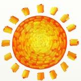 pomalowany słońce ilustracji
