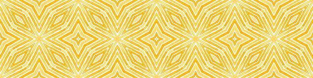 Pomarańczowa Bezszwowa Rabatowa ślimacznica Geometryczny Watercolo royalty ilustracja