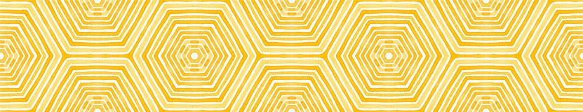 Pomarańczowa Bezszwowa Rabatowa ślimacznica Geometryczny Watercolo ilustracji