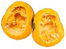 Pomarańczowa braja z ziarnami w bani na białym tle obrazy royalty free