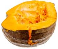 Pomarańczowa braja z ziarnami w bani na białym tle obrazy stock
