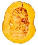 Pomarańczowa braja z ziarnami w bani na białym tle zdjęcia stock