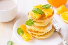 Pomarańczowej łupy bliny zdjęcia royalty free
