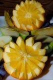 Pomarańczowej figurki pokrojony asterysk obraz royalty free