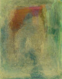 pomarańcz abstrakcjonistyczne zielone menchie ilustracja wektor
