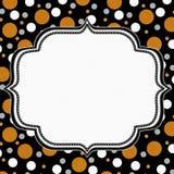 Pomarańcz, Białego i Czarnego polki kropki ramy tło, Zdjęcia Royalty Free