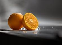 pomarańcza z pokroić Fotografia Royalty Free