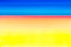 Pomarańcze, błękit, purpura, menchie zamazuje niebo gradient Obraz Royalty Free