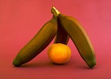 pomarańcze banan pomarańcze Fotografia Stock