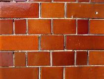 pomarańcze ceglana glansowana ściana Zdjęcie Stock