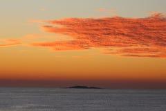 pomarańcze chmury obrazy stock