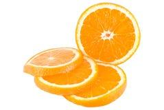 Pomarańcze, cięcie w plasterki Fotografia Royalty Free