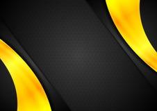 Pomarańcze i czerni kontrasta abstrakta tło Obraz Royalty Free