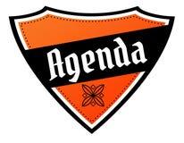 Pomarańcze i czerni osłona z agenda tekstem Zdjęcie Royalty Free