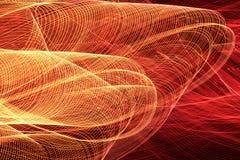 Pomarańcze i czerwone światło wykładamy na czarnym tle Abstrakcjonistyczna fotografia długim ujawnieniem obraz stock