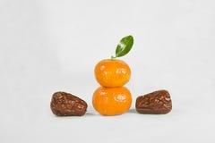 Pomarańcze i data zdjęcia royalty free