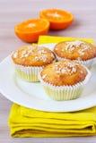 Pomarańcze i owsa muffins obraz stock