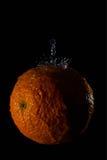 Pomarańcze i wody pluśnięcia owoc Obraz Royalty Free
