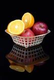 pomarańcze jabłka Obrazy Stock