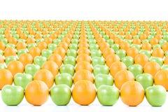 pomarańcze jabłka Zdjęcia Royalty Free