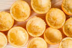 Pomarańcze, mandarynka, tangerine odgórnego widoku przyrodni śmieci zdjęcie royalty free