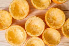 Pomarańcze, mandarynka, tangerine odgórnego widoku przyrodni śmieci obrazy stock