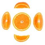 Pomarańcze na białym tle Zdjęcia Stock