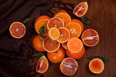 pomarańcze nadal życia Pomarańczowa góra fotografia stock