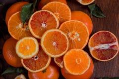 pomarańcze nadal życia Pomarańczowa góra Zakończenie zdjęcie stock