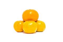 Pomarańcze odizolowywać Obrazy Royalty Free