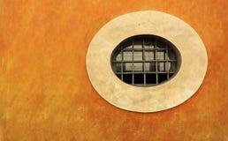 pomarańcze okno ścienny okno Fotografia Stock