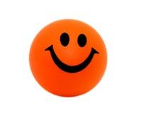 Pomarańcze piankowa piłka z uśmiechem Zdjęcie Stock