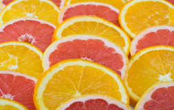 pomarańcze pokrajać Obraz Royalty Free
