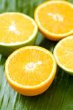 pomarańcze pokrajać Obraz Stock