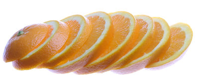pomarańcze pokrajać Fotografia Stock