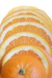 pomarańcze pokrajać Zdjęcia Royalty Free