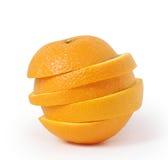 Pomarańcze pokrajać sok Zdjęcie Stock