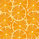 Pomarańcze pokrajać tło ilustracja wektor