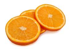 pomarańcze pokrajać trzy Obraz Stock
