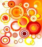 pomarańcze tła światła ilustracja wektor