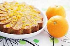 Pomarańcze tort fotografia royalty free