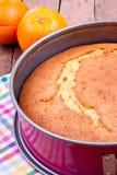 Pomarańcze tort fotografia stock