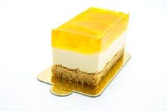 Pomarańcze tort na białym tle fotografia royalty free