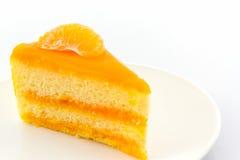 Pomarańcze torta plasterek, owoc tort Zdjęcie Stock