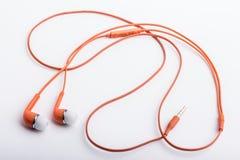 Pomarańcze używać, stereo ręki swobodnie ustawiać Fotografia Stock