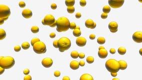 Pomarańcze Unosi się w przestrzeni Z Białym tłem ilustracji