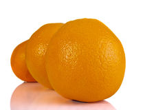 Pomarańcze wykładać up zdjęcia stock