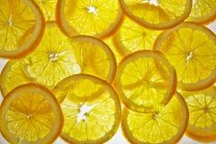 Pomarańcze zamykają zamykać obrazy royalty free