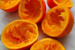 pomarańcze zdruzgotane zdjęcia stock