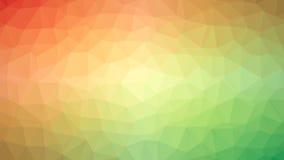 Pomarańcze Zielony Triangulated tło Obrazy Stock